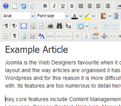 Joomla Edit Article Sample page