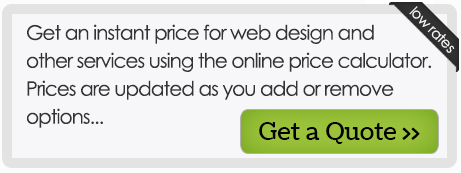 Get an instant price for web design and