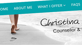 Counselling from Christina Joomla 3 CMS Website