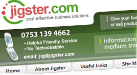 The Original Jigster.com Joomla 1.5 CMS Website