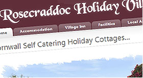 Rose Craddoc Holiday Village Joomla 1.5 CMS Website