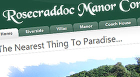 Rosecraddoc Manor Holidays Joomla 1.5 CMS Website